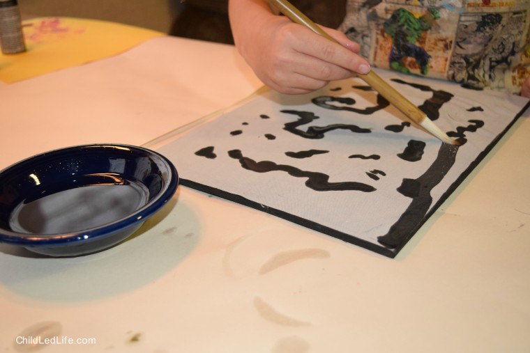 Exploring writing with magic board