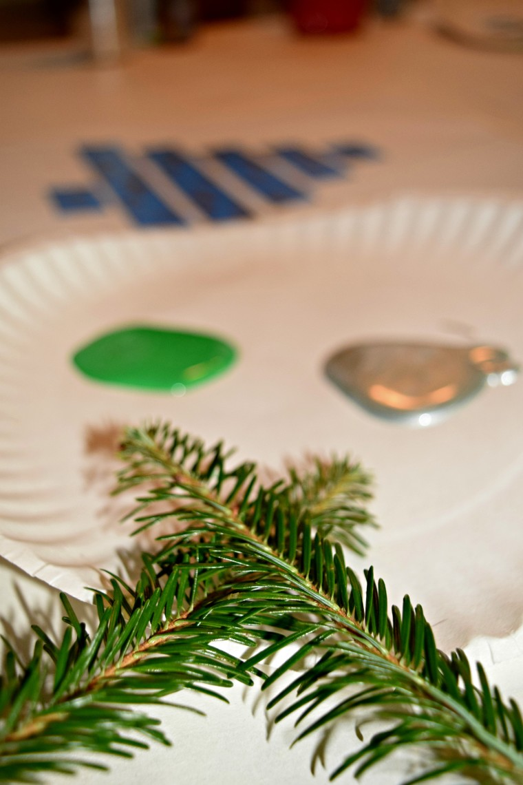 explore fir tree with painting